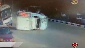 شاهد على حادث مدينة نصر: ارتطام الأتوبيس فى السيارة أنقذ حياة الكثيرين