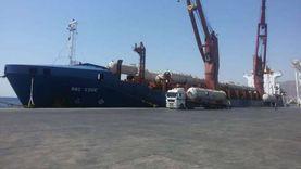 تداول 197 شاحنة و1900 طن بضائع بموانئ البحر الأحمر