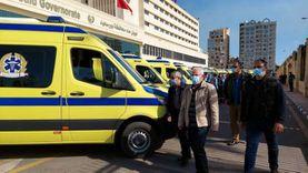 بورسعيد تتسلم 11 سيارة إسعاف جديدة تضم غرف عناية مركزة متنقلة