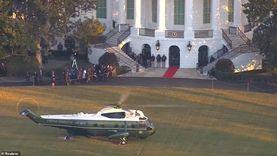 مروحية نقل ترامب إلى فلوريدا تهبط في قاعدة أندروز الجوية «فيديو»