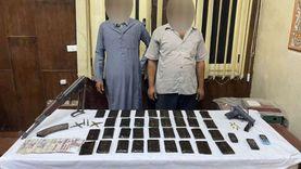 ضبط 35 طربة حشيش بحوزة متهمين بالاتجار في المخدرات بالجيزة