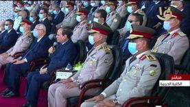 السيسي يهنئ خريجي الكليات العسكرية: مهمتكم من أشرف المهام