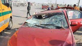 مصرع مواطن وإصابة اثنين في حادث تصادم سيارتين بأسيوط