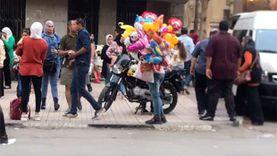 زحام في وسط البلد ثالث أيام العيد