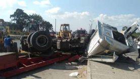 جهود مكثفة لضبط السائق المتسبب في وفاة 4 أشخاص بـ«حادث البدرشين»