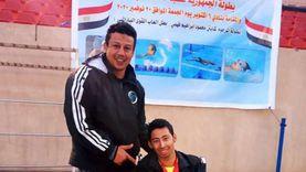 متحدي إعاقة بجنوب سيناء يحصل على الميدالية الذهبية في بطولة الجمهورية