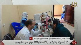 تحيا مصر: صرف 190 ألف نظارة وعلاج 83 ألف شخص ضمن مبادرة «نور حياة»
