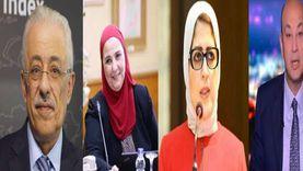 التوك شو في أسبوع: بدأ بلقاء وزير التعليم وانتهى بعودة عمرو أديب