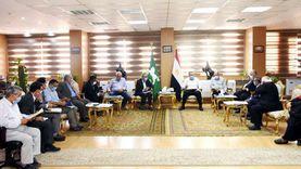 """محافظ الشرقية يناقش تقنين وضع 410 أفدنة """"أملاك دولة"""" في بلبيس"""