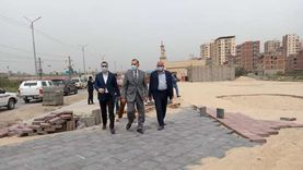 محافظ كفر الشيخ يتفقد أعمال رصف محور سعد زغلول
