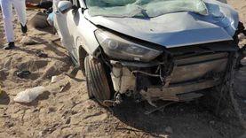 إصابة 7 أشخاص في انقلاب سيارة بطريق «مطروح - إسكندرية»