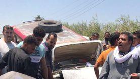 إصابة 7 أشخاص في تصادم ملاكي و«نقل» بالأقصر