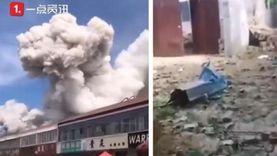 فيديو.. انفجار ضخم شرق الصين