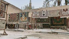 فرش قصر اللورد مارش.. «القطان» مر بحروب وكورونا: 90 سنة سجاد «فيديو»
