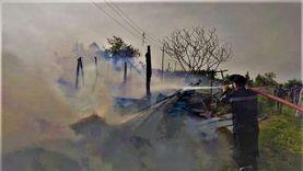 نفوق 3 رؤوس ماشية في حريق حظيرة مواشي بالدقهلية
