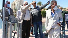 محافظ جنوب سيناء يتابع استعدادات طابا لاحتفالات المحافظة بعيدها