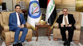 وزير العدل العراقي يبحث مع السفير المصري التعاون القضائي