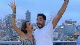 أحدث ظهور لنيللي كريم وزوجها هشام عاشور بعد شهر العسل (فيديو)