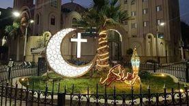 كنيسة «الشطبي» تزين ميدان عبدالمنعم بالمنيا احتفالا برمضان