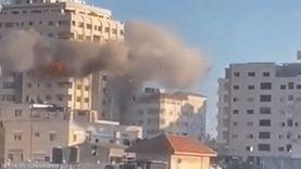 اللحظات الأولى لقصف جيش الاحتلال «برج مشتهى» في غزة «فيديو»