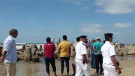 وصول غطاس متطوع للبحث عن جثمان طالب غرق منذ 4 أيام بمصيف بلطيم