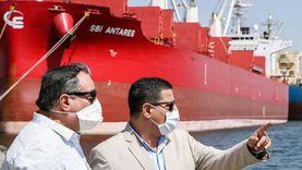 25321 طن حركة الصادر من البضائع العامة بميناء دمياط
