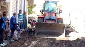 انتهاء أعمال إصلاح الهبوط الأرضي بشارع الزلفي في أرمنت غرب الأقصر