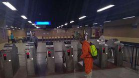 المترو: تعقيم القطارات والمحطات بالخطوط الثلاثة لمواجهة كورونا