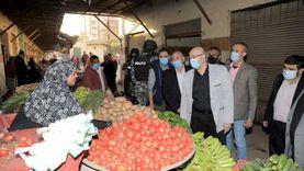 محافظ بني سويف يتفقد سوق الدهشوري ضمن خطة رفع كفاءته