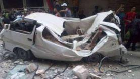 بالأسماء.. إصابة 6 أشخاص في انقلاب سيارة ميكروباص بسوهاج