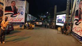 شاشات وأغاني وطنية في اليوم الأول لانتخابات الشيوخ بشوارع الغربية
