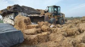 إزالة مبنى على أرض زراعية بمنطقة 307 فدان بجوار أنفاق بورسعيد