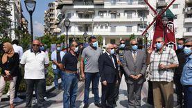 """محافظ بورسعيد ورئيس """"التنسيق الحضاري"""" يتفقدان  أعمال تطوير حديقة فريال"""