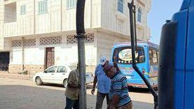 حملة مكبرة لرفع المخلفات بالسوق الحضاري وكورنيش النيل في دمياط