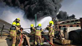 أول صور من موقع حريق منطقة «جبل علي» الصناعية في دبي