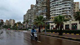 أمطار خفيفة ورياح شديدة البرودة تجتاح الإسكندرية
