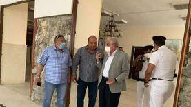محافظ جنوب سيناء يتفقد أعمال تطوير قاعة الديوان العام