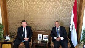 سفير أوكرانيا بالقاهرة يناقش مع مساعد وزير الخارجية الأنشطة الثنائية