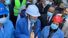 وزير التموين يتفقد مصنع إدفو.. ينتج 115 ألف طن سكر سنويا