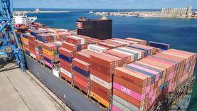 ميناء دمياط يستقبل 25 سفينة وواردات 71 ألف طن بضائع وحبوب