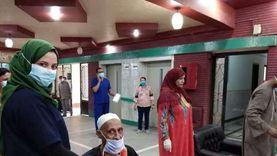 صور.. تعافى وخروج 7 حالات كورونا من مستشفى قنا العام للعزل
