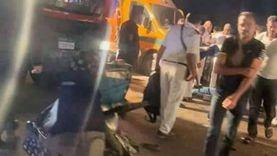 مصرع وإصابة ثلاثة أشخاص فى حادث تصادم بأسيوط