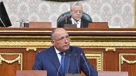 وزير الخارجية أمام البرلمان: لم ولن نقبل مساعِ الهيمنة على مياه النيل