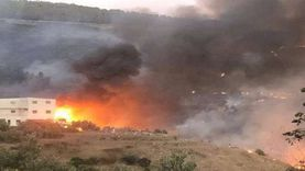 عاجل.. حريق ضخم بريف حمص في سوريا