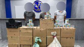 ضبط المتهمين بسرقة 20 كرتونة لبن أطفال مدعم بمركز طبي في القليوبية