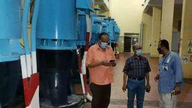 رئيس شركة مياه الشرب بالإسكندرية يتفقد محطة المعمورة