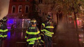 فيديو.. حريق يدمر كنيسة أمريكية تاريخية