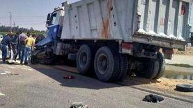 القبض على سائق سيارة نقل في واقعة مصرع أسرة في حادث تصادم بالشرقية