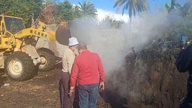 حملة مكبرة لتنفيذ قرارات الإزالة لمكامير الفحم بكفر البطيخ