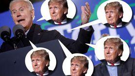 بايدن يسخر من ترامب في مؤتمر انتخابي.. ذكره 24 مرة في 17 دقيقة (فيديو)